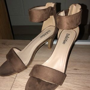 Shoes - Brown strap heels